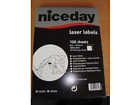 4 packs of Niceday laser labels 100 sheets per pack (21 labels per sheet) only at £15