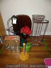 Metal Dish Rack Serving Tray And Plant Stand B