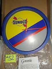 Vintage Retro Mint In Box Sunoco Gas Station Oil Advertising Clock