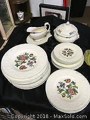 "Wedgewood China Partial set in ""Patrician"" Pattern"