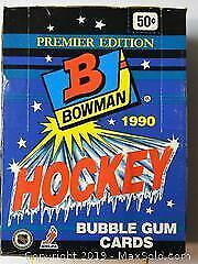 Bowman Premier Edition Hockey Bubble Gum Cards 1990 36 count including rookie cards.