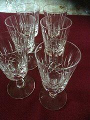 Edinburgh Crystal Sherry Glasses - Appin Design - Set of Six