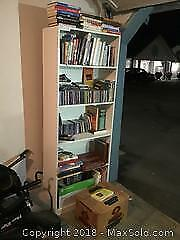 IKEA Style Bookcase With Variety Of Books And Music CDs B