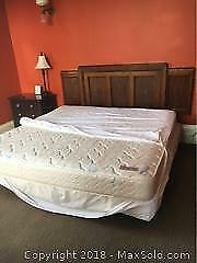 King Size Mattress and Split Box Spring C