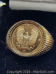 Franklin Mint Coin Ring sz 11