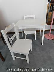 Childrens Table And Chairs A