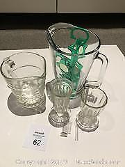 Glass Pitchers. Glass Footed Vases, Very Small Flower Holders, Cool Glasses