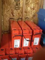 Off Grid Batteries 170 Amp Hr, 120 watt solar panels