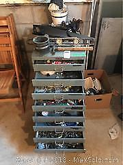 Heavy Tool Cabinet And Tools C
