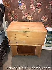 Antique Pine Bed Chest B