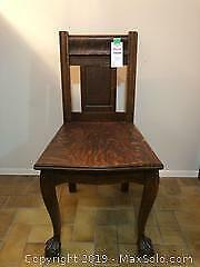 Solid Oak Chair - Circa Early 1900s