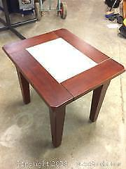 side table with inlay - in like new condition