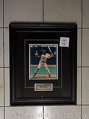 Framed, Matted and Autographed. Toronto Blue Jays Shawn Green. - A