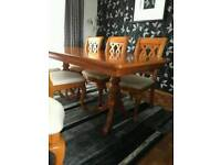 Gorgeous solid Yew Dining Table and Chairs