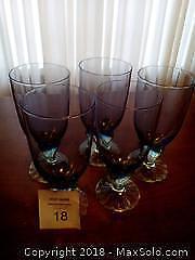 Blue Glass Goblets Category A Pickup