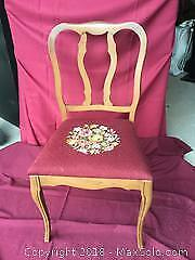 Dining Room Chairs, Needlepoint Covered Seat