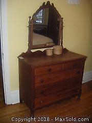 Antique Dresser with Mirror. C