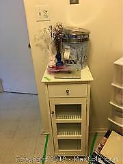 Cabinet and Contents. B