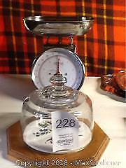 Stainless Scale And Covered Cheese Dish