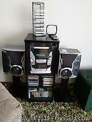 Stereo, Cabinet, Speakers and CDs B