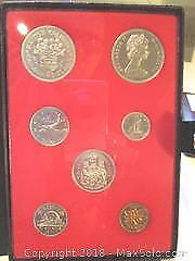 Royal Canadian Mint, British Columbia 1871 -1971 Double Silver Dollar Set of Canadian Currency Coins.