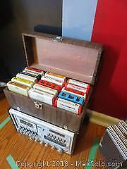8 Track Cassettes And IMA Cassette Player - A