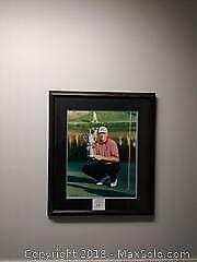 Ernie Els 1997 US Open Golf Champion. Framed and Matted. Signed by photographer. Picture - A