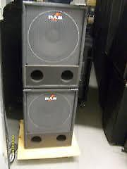 "SUBWOOFERS D.A.S. Subwoofer 15"", PERFORMANCE series"