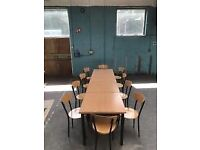 Wooden/Metal Frame Tables & Chairs