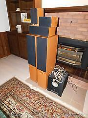 Fluance Speakers And Sub Woofer - A