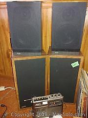 B And W Speakers and EPI Speakers and Sony Radio