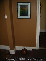 Oil Painting and Wooden Vase A