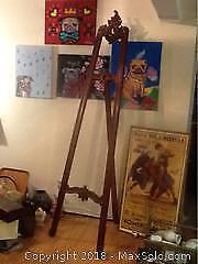 Tall Picture Hanging Easle For Artwork