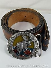 Harley Davidson Belt With Moose Buckle