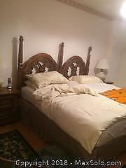 King Size Bed Frame And Mattress B