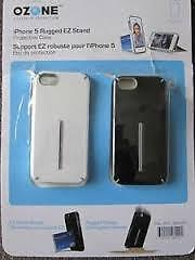 IPhone 5 Rugged EZ Stand-Protective (2) Cases SEALED PACKAGE !!