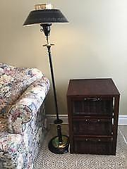 Floor Lamp And Side Storage Table