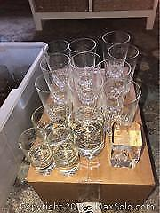 Assorted Crystal Glasses Plus Laser Crystal A
