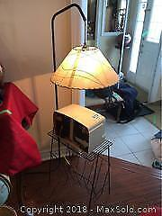 Vintage Radio and Lamp A