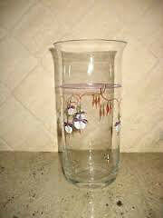 Tall Vintage Hand painted Vase - Burlington