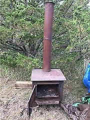 Wood Stove With Stack B