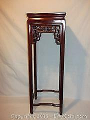 Antique Chinese hand-carved pedestal table