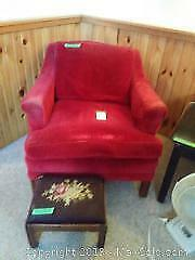 Arm Chair and Footstool B