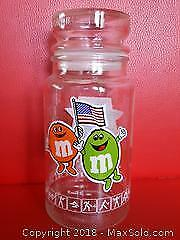 1980's M&M's Olympic Advertising Lidded Jar