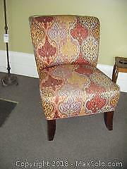 Armless Upholstered Chair B