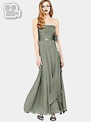 Women's Coast Allure green silk chiffon maxi dress size 14
