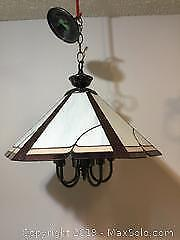 Stained Glass Ceding Pendant Light Fixture