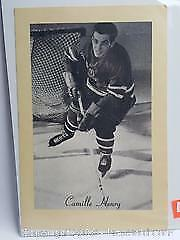 Vintage Bee Hive Corn Syrup Picture Of Camille Henry Of the New York Rangers