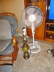 Fan And Table Lamp