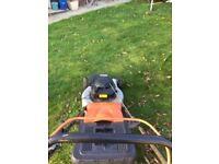 Flymo petrol lawnmower